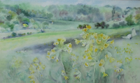 Painting inspired by Holtspur Bottom in springtime